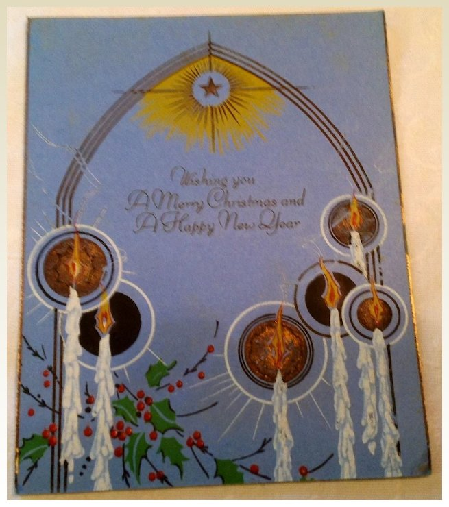 art deco a merry christmas a happy new year card