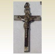 Vintage Ebony INRI Priest Nun Crucifix