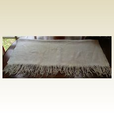 "Vintage Home Spun Fringed Towel 50"" X 30"""