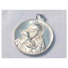 Vintage Aluminum Italian St. Joseph Medal
