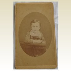 Vintage Cabinet Photo Card Child