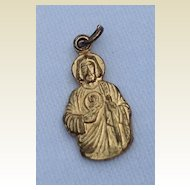 Vintage Gold Tone Metal Dominican Fathers Medal