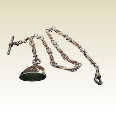 Victorian Gold Filled Pocket Watch Chain & Fob