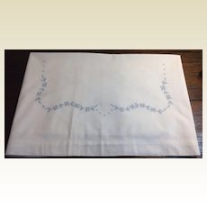 Vintage French Appenzell Hand Embroidered Baby Sheet