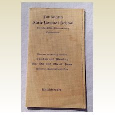 1910 Louisiana State Normal School Twenty Fifth Anniversary Celebration Program