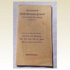 1910 Louisiana State Normal School Twenty Fifth Anniversary Celebration Program