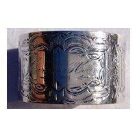 Silver Plate Napkin Ring
