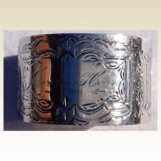 Vintage Silver Plate Napkin Ring