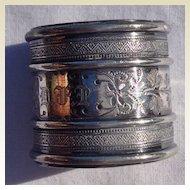 Victorian Silver Plate Napkin Ring