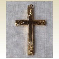 Vintage Large Gold Filled Cross