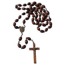 Victorian Wooden Bead Monk Or Nun's Rosary