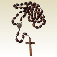 Victorian Wooden Bead Monk Or Nun's Rosary