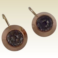 Vintage Gold Filled Screw Back Paste Earrings