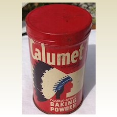 Vintage Tin General Foods Corporation Calmet Baking Powder Can