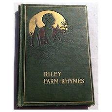 1905 Riley Farm Rhymes By James Whitcomb Riley