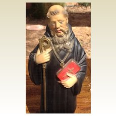 Vintage Saint  Cyril  Chalk Statue