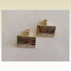 Vintage Gold Tone Metal Cuff Links