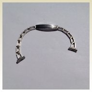 Vintage White Gold Filled Watch Band Bracelet
