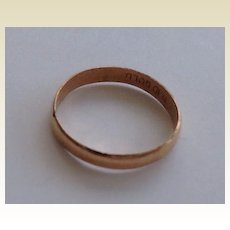 Vintage Solid Gold Baby Ring