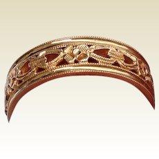 Vintage Detailed 14 K Gold Wedding Band Ring
