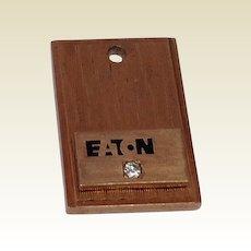 Vintage Gold Karat Clad  E T N Or EITON Logo Pendant