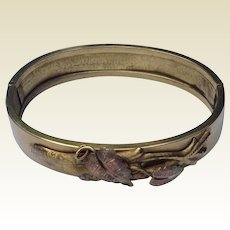 Victorian Tri Color Hinged Bangle Bracelet