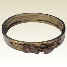 Victorian Tri Color Hinged Bangle Bracelet