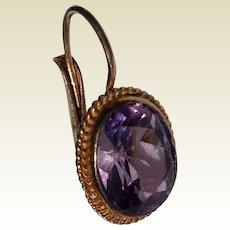 Vintage Gold Vermeil Amethyst Single Earring
