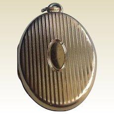 Vintage Gold Filled Double Photo Locket