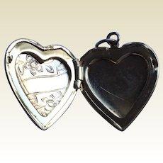 Vintage Gold Filled Heart Shape Double Photo Locket