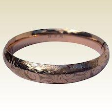 Victorian Gold Filled Hinged Bangle Bracelet