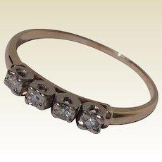 Vintage 14 K Gold Diamond Wedding Ring Band