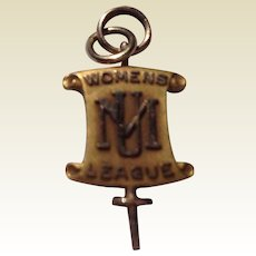 Vintage 10 K Gold Filled Woman's League House President Charm