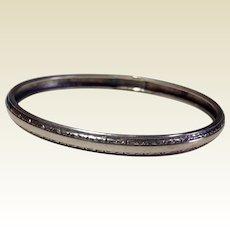 Vintage 800 Silver Bangle Bracelet