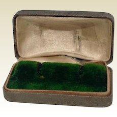 Vintage Leatherette Earring Display Presentation Box