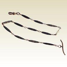 Vintage Two Tone Fancy Link Watch Chain