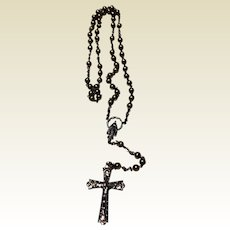 Vintage Silver Tone Metal Catholic Rosary St Anne De Beaupre
