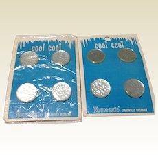 Two Sets Of Nouveaute Buttons On Original Cards