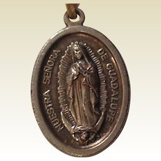Our Lady Of Guadalupe Silver Tone Metal Medal