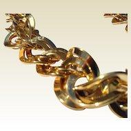 Vintage Gold Filed Flexible Link Trifari Necklace