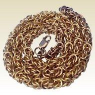 "Vintage Gold Filled Heavy Ornate Link 18"" Chain"