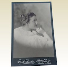 Vintage Cabinet Photo Young Lady