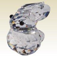 Retired Swarovski Mini Crystal Rabbit