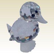 Retired Swarovski Crystal Standing Mini Duck