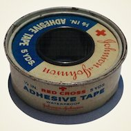 "Vintage Johnson & Johnson Roll Of 1/2"" Adhesive Tape"