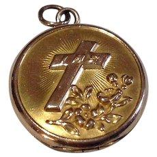 Vintage Religious Gold Filled Unusual Scapular Locket