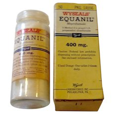 Wyseals 1960'S Equanil 400 MG Tablets In Original Box