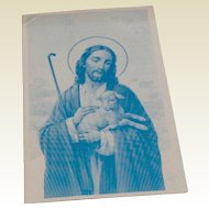 Vintage Catholic Religious Card Sow Good Seeds