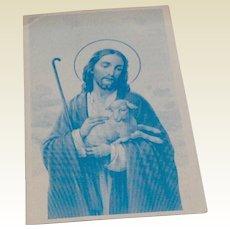Vintage Catholic Religious Card Sow Good Seeds