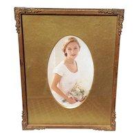 Vintage Gold Tone Easel Back Frame